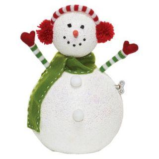 Roman Twirl N Tune Snowman Decorative Holiday Figurine
