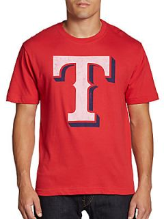 Vintage Inspired Texas Rangers T Shirt   Red