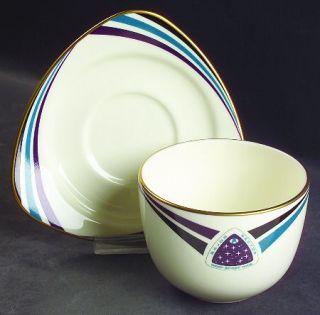 Pfaltzgraff Star Trek Deep Space Nine Flat Cup & Saucer Set, Fine China Dinnerwa