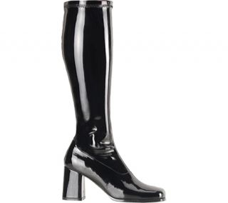 Womens Funtasma Gogo 300   Black Stretch Patent Boots