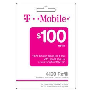 T Mobile $100 Prepaid Refill Card
