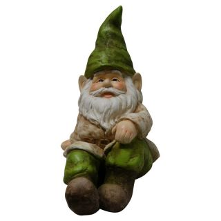 Alpine Gnome Sitting Down Statue Multicolor   GXT498