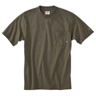 Dickies Mens Short Sleeve Pocket T Shirt with Wicking   Moss Green XXL T