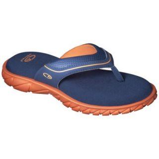 Boys C9 by Champion Pat Flip Flop Sandals   Navy/Orange L