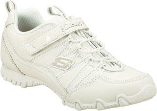 Infant/Toddler Girls Skechers Bikers II School Star   White/Silver Sneakers