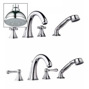 Grohe 25 506 000 27682000 Geneva Roman Tub Filler with Personal Hand Shower with
