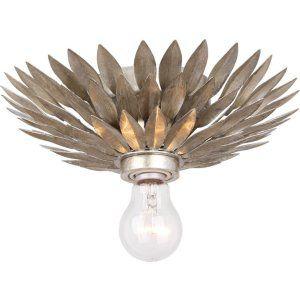 Crystorama Lighting CRY 500 SA CEILING Broche Broche 1 Light Silver Flushmount