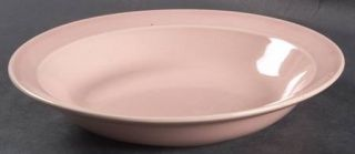 Taylor, Smith & T (TS&T) Luray Pastels Pink Rim Soup Bowl, Fine China Dinnerware