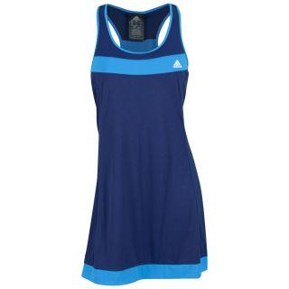 Adidas Women`s Galaxy Tennis Dress Night Blue and Solar Blue Small
