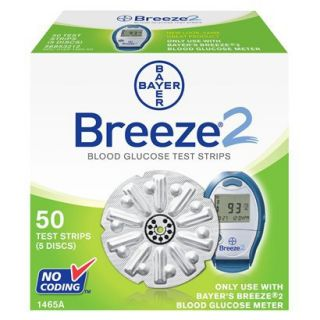 Bayer Breeze2 Blood Glucose Test Strips   50 Count