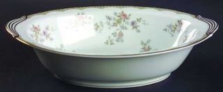 Noritake Roberta 10 Oval Vegetable Bowl, Fine China Dinnerware   Tan Band/Lines