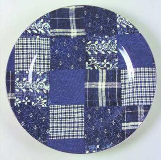 American Living Selvedge Patchwork Dinner Plate, Fine China Dinnerware   Denim B