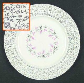 Taylor, Smith & T (TS&T) Tst99 Dinner Plate, Fine China Dinnerware   Gold Filigr