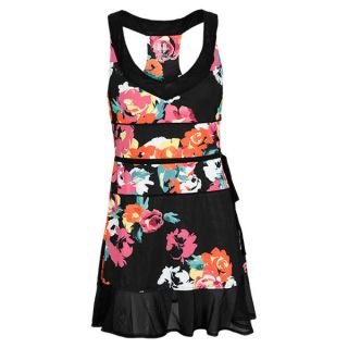 Eleven Women`s US Open Tennis Dress Rose and Black Large