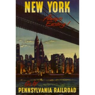 Art   New York by Pennsylvania Railroad Poster