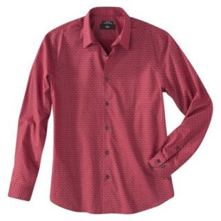 Mossimo Mens Button Down   Red Hot L