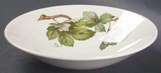 Edwin Knowles Grapevine Fruit/Dessert (Sauce) Bowl, Fine China Dinnerware   Gree