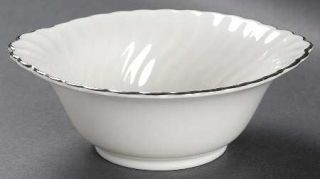 Syracuse Wedding Ring Lugged Cereal Bowl, Fine China Dinnerware   Silhouette Sha