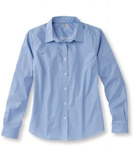 Easy Care Stretch Poplin Shirt, Dot