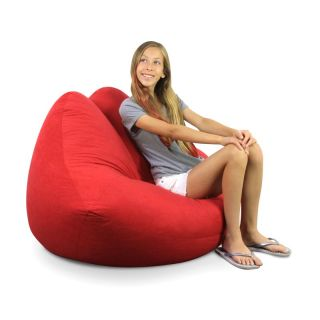 Elite Products American Bean Bag Co Hot Lips Bean Bag Chair Multicolor   30