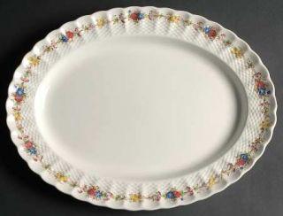 Spode Hazel Dell (White) 14 Oval Serving Platter, Fine China Dinnerware   White