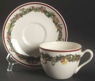 Spode Christmas Memories Flat Cup & Saucer Set, Fine China Dinnerware   Xmas Toy