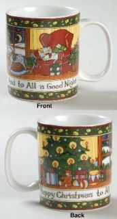 Portmeirion Christmas Story Mug, Fine China Dinnerware   Scenes Of Twas The Nigh