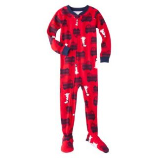 Just One You by Carters Infant Toddler Boys Fire Truck Footed Sleeper Set