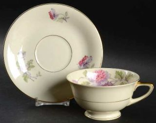 Heinrich   H&C 11898 Footed Cup & Saucer Set, Fine China Dinnerware   Senta Shap