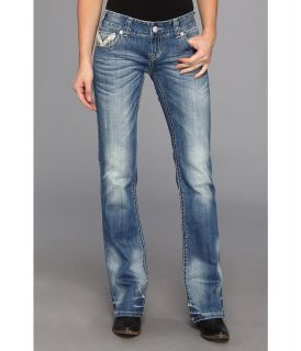 Rock and Roll Cowgirl Juniors Low Rise Boot Cut in Medium Vintage Womens Jeans (Blue)