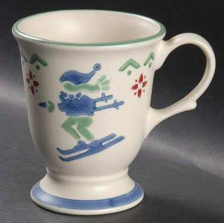 Pfaltzgraff Nordic Christmas Extra Large 16 Oz Pedestal Mug, Fine China Dinnerwa