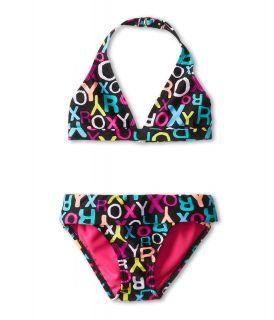 Roxy Kids Roxy Logo 70s Halter Set with Cups Girls Swimwear Sets (Multi)