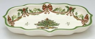 Spode Christmas Tree 65th Anniversary Ogee Candy Dish, Fine China Dinnerware   R