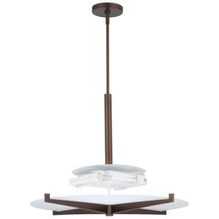 Forecast Lighting FB185270 Fisher Island 3light Pendant in Merlot Bronze finish