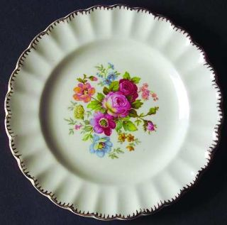 Limoges American June Rose (No Gold Filigree) Bread & Butter Plate, Fine China D