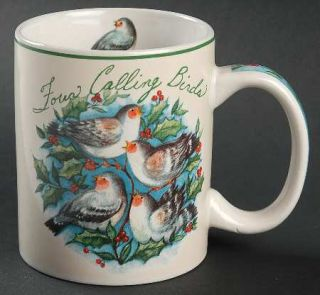12 Days Of Christmas Mug, Fine China Dinnerware   12 Days Of Christmas On Aqua B