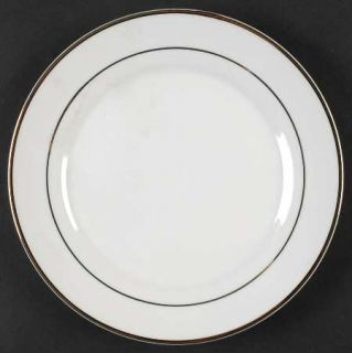 JCPenney Emily Gold Salad Plate, Fine China Dinnerware   Porcelain, China, White