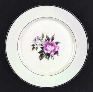 Royal Jackson Margaret Rose Dinner Plate, Fine China Dinnerware   Pink & White R