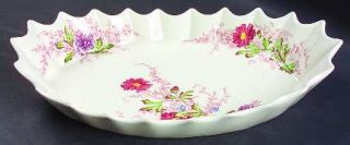 Spode Fairy Dell (Swirled) Jubilee Platter, Fine China Dinnerware   Multicolor F