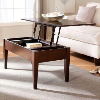 Hayneedle Turner Lift Top Coffee Table   Espresso Dark Brown   WSN04 C