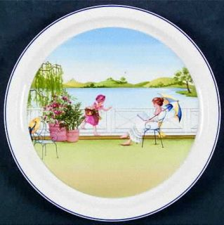 Villeroy & Boch Romantic Seasons Wall Plate, Fine China Dinnerware   Scenes From