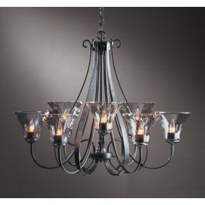 Hubbardton Forge HUB 101458 07 L22 Sweeping Taper Chandelier 9 Arm Sweep Taper