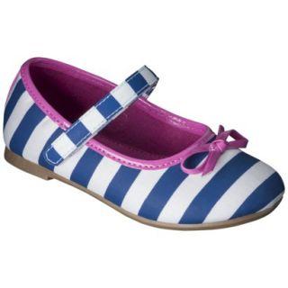 Toddler Girls Cherokee Ballet Flats   Navy/White 9