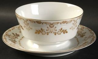 Harmony House China Classique Gold Gravy Boat with Attached Underplate, Fine Chi