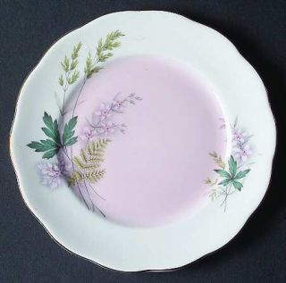 Queen Anne (England) Louise (Pink Center) Bread & Butter Plate, Fine China Dinne