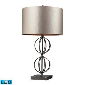 Dimond Lighting DMD D2224 LED Danforth Table  Lamp in a Coffee Plated Finish wit
