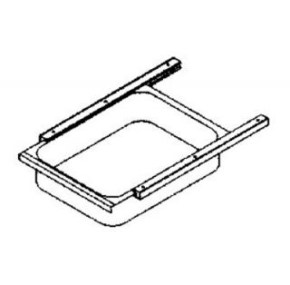 John Boos Front Drawer & Pan for Stainless Tables w/ Poly Friction Slide, 15 x 20 x 5 in
