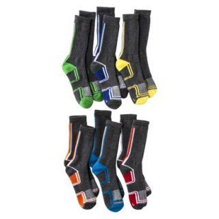 Cherokee Boys 6 Pack Casual Socks   Flat Grey 5.5 8.5