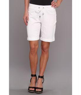 Mod o doc Lightweight French Terry Cuffed Drawstring Short Womens Shorts (White)