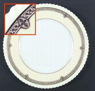 Lenox China Crinoline Cream Dinner Plate, Fine China Dinnerware   Gadroon Edge,